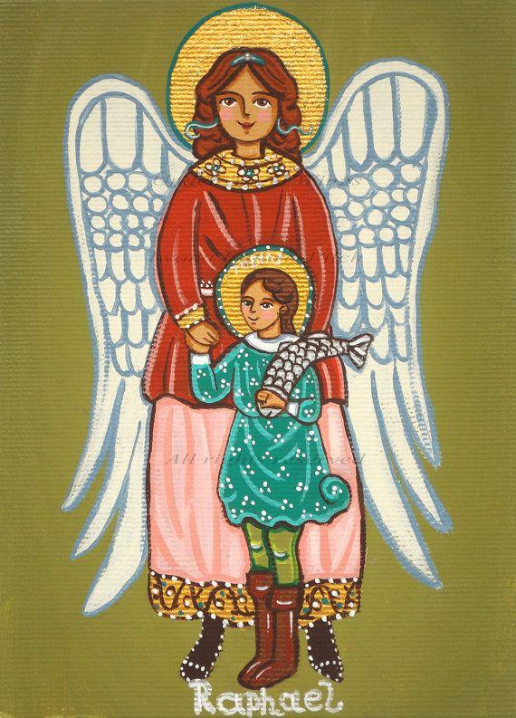 Saint Raphael the Archangel Raphael canvas print St Raphael