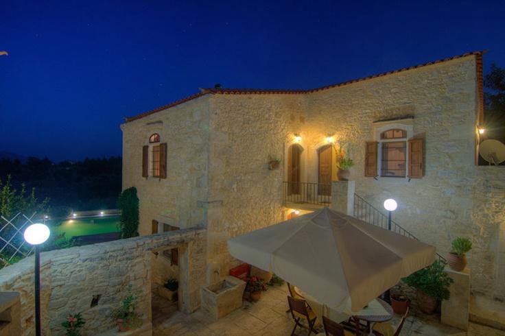 www.allaria.gr Villa Allaria Crete #villa #crete #greece #vacation_rental #luxury #private #holidays #summer_in_crete #island  #night_time #outdoors #thevilla #garden