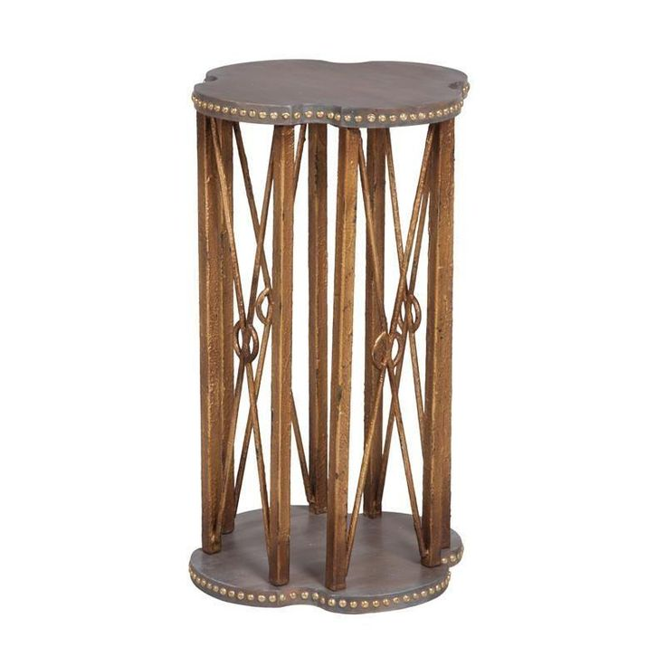 Bedford Accent Table Gray, Gold