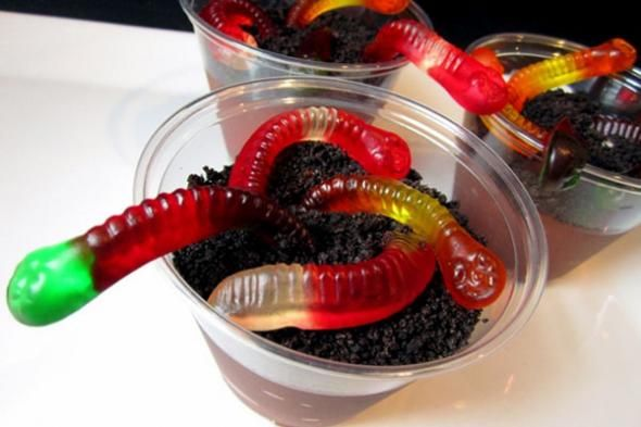 Creepy Crawly Worms in Dirt - Halloween