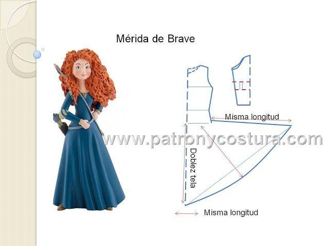 Patrón y costura : Mérida de Brave disfraz.Tema 200