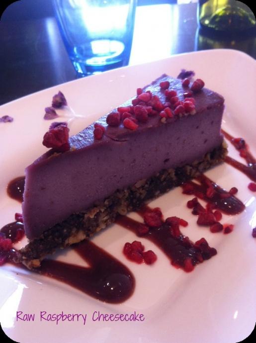 Raw Raspberry Cheesecake @Firefly