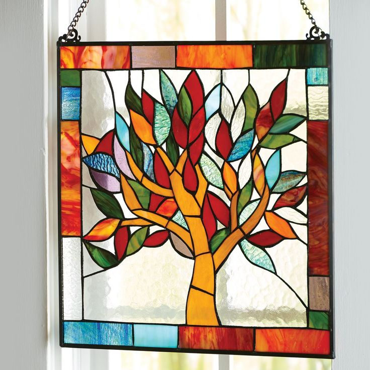 Stained Glass Tree of Life Window Panellove it