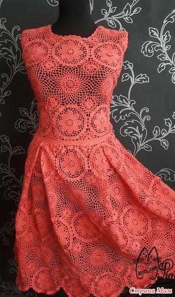 crochelinhasagulhas: Vestido em crochê