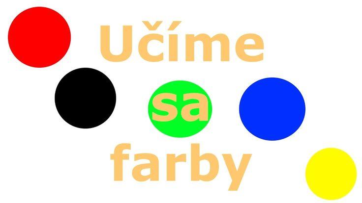 🎨🇸🇰Učíme sa farby - Animované farby pre deti a najmenších