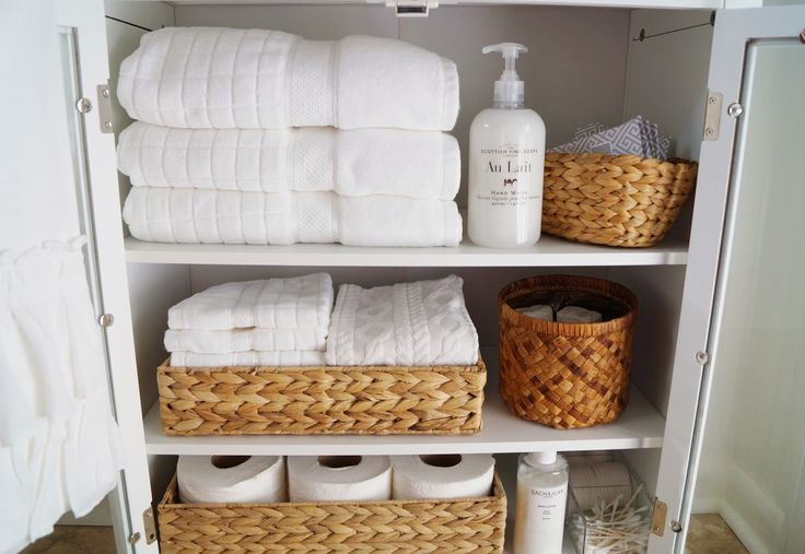 Love this idea....Yes I'm inspired to do this in my bathroom to store extra towels.----> Small-Bathroom Linen Cabinet