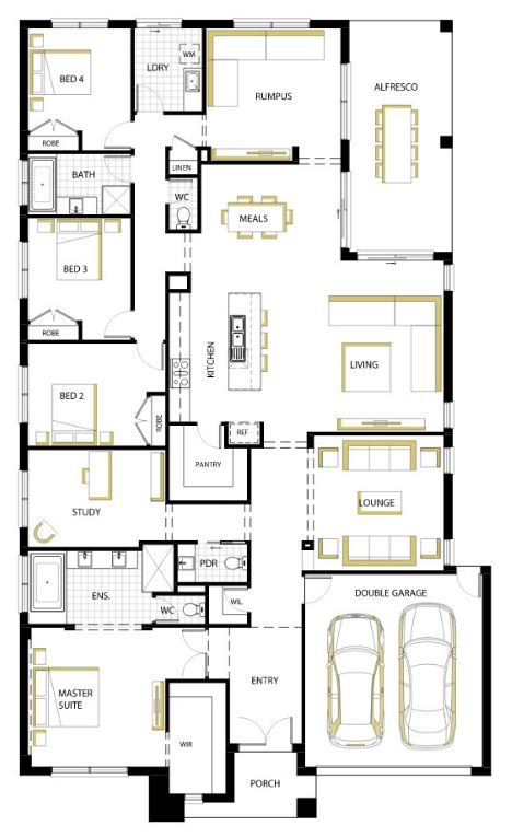 planos de casas modernas de un piso mexico