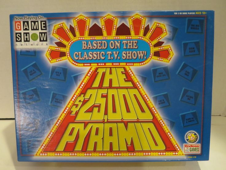 THE 25,000 PYRAMID Game Show Network TV Show 2000 Endless Games MINT #EndlessGames