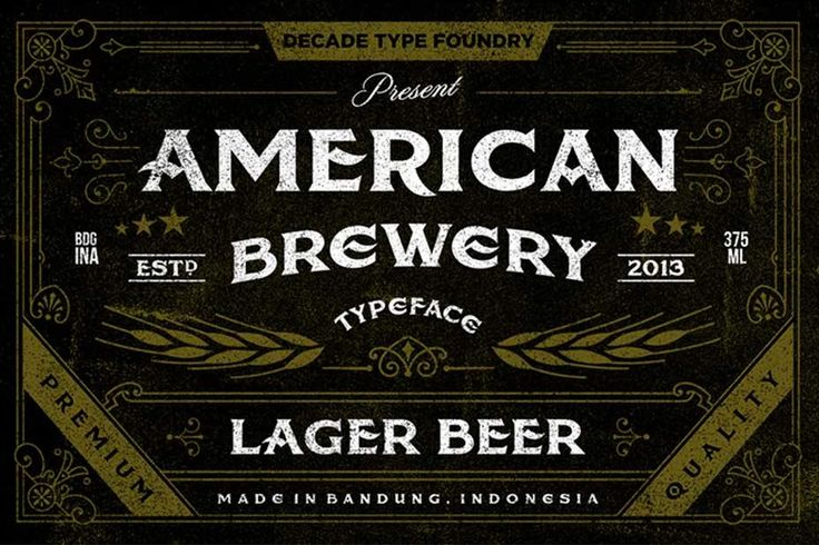 Free Retro and Vintage Fonts: American Brewery