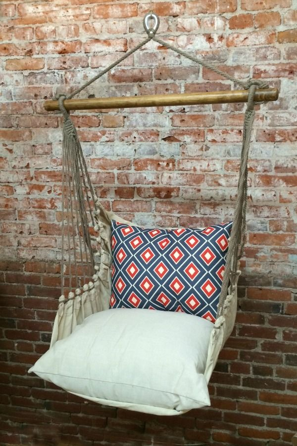 It's a little pricey but I love it!! Hammock Swing Chair - Blue/Red Diamonds by Home Ec