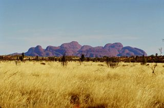 Click on this image for more information on Kata Tjuta. You can buy handmade photographic greeting cards of this photo for $4.50. www.theshortcollection.com.au/Australian-Landscapes
