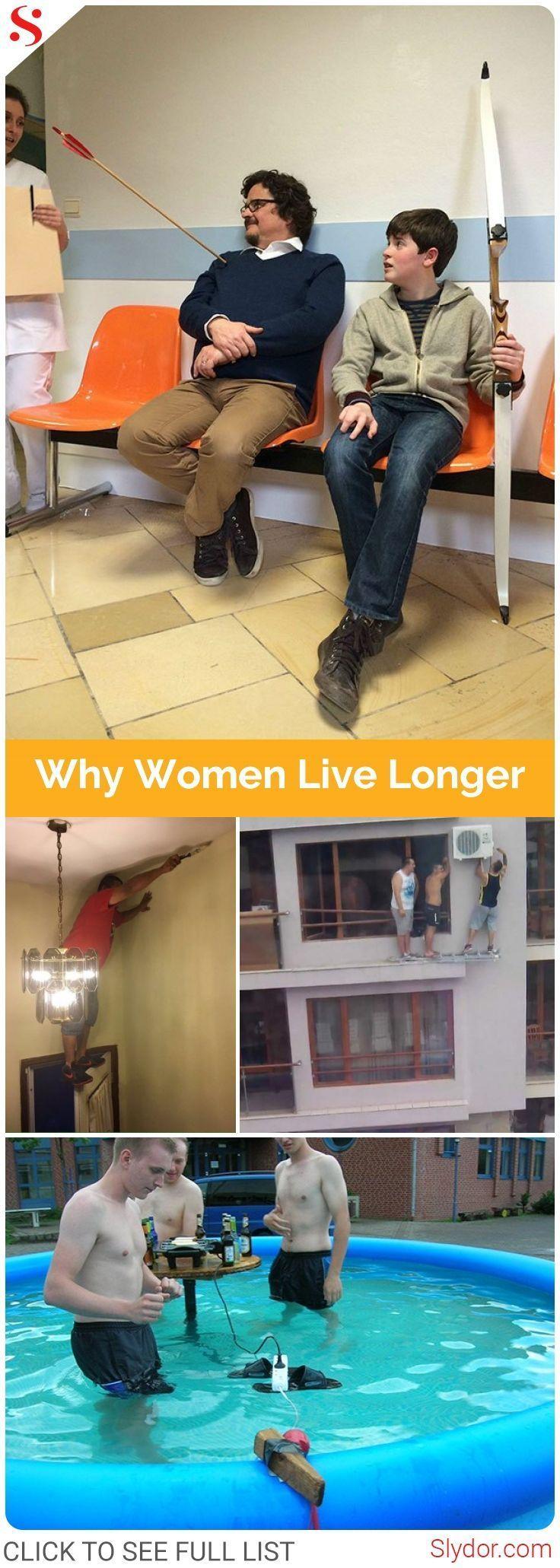 10 Logical Proofs Why Women Live Longer Than Men#proofs #women #men #man #woman #life #lifespan #fun #funny #humor #fact #facts #slydor #dailydoseoffun