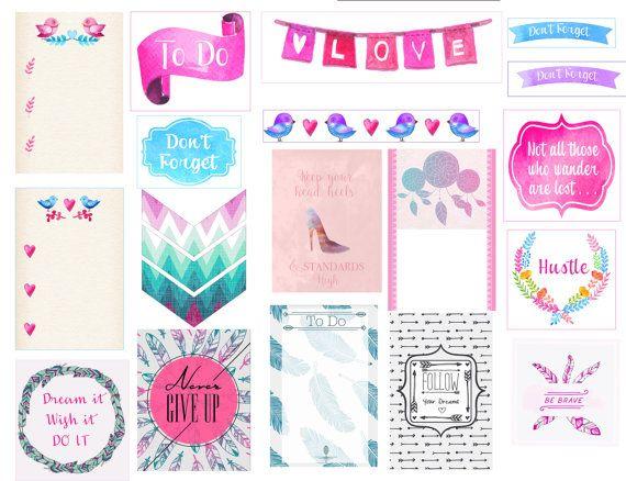Premium Digital Printable Planner Stickers / by StyleCelery