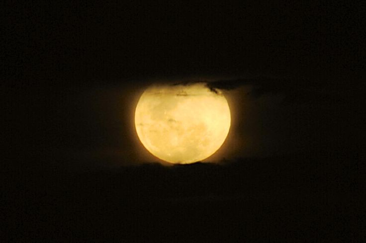 Taking a pic of the moon without a tripod…not wise but decent image… ;-)