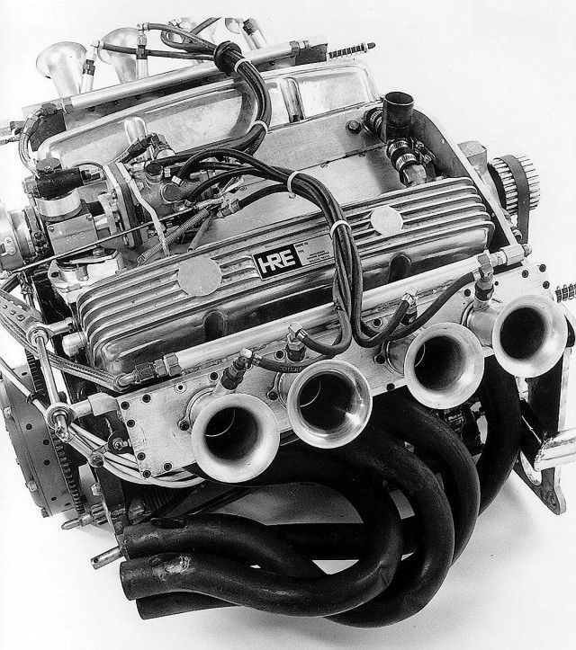 Here's a photo taken when the engine was built by Gus Hutchinson and his HRE shop in the '70s.