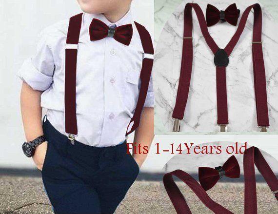 Father Son Match  Handmade Burgundy DARK WINE RED Velvet Bow Tie Bowtie Wedding
