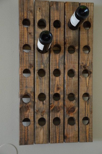 Antique Riddling Style Wine Rack Wall Hanging (Walnut), $79.99