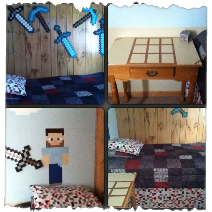 14 Best MINECRAFT MURAL / THEMED BEDROOM Images On