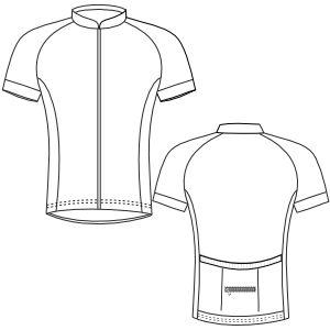 All our patterns have been tested and they are prepared for garments production Cyclist Maillot 3012 MEN T-Shirts