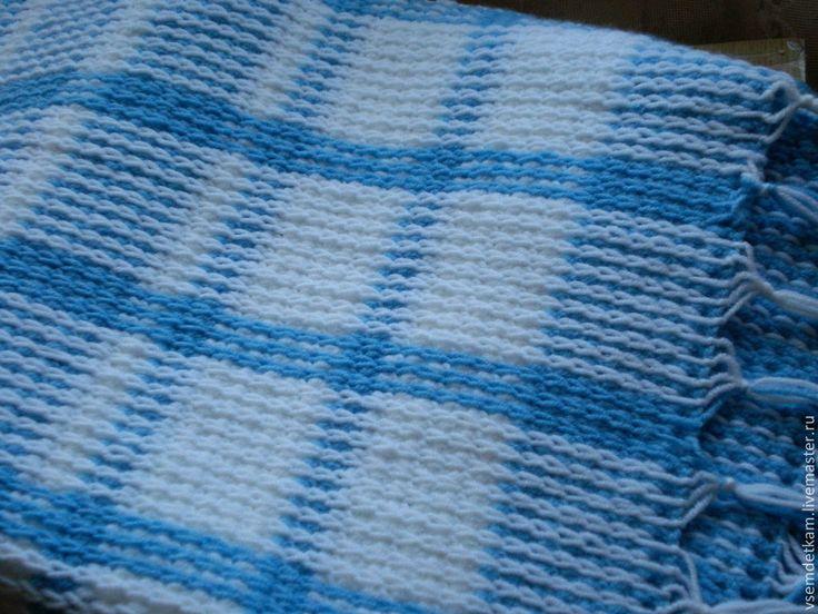 Купить Плед-одеяло для новорожденных Нежность - в клеточку, плед, плед-одеяло, плед для новорожденных