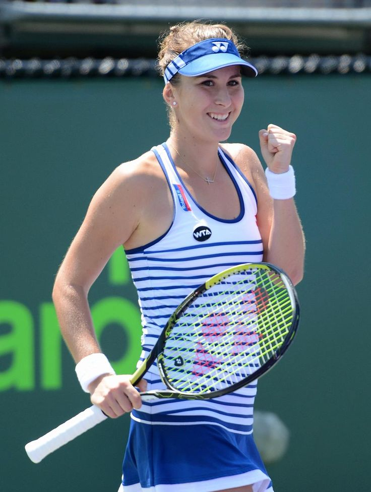 Belinda Bencic: Greetings from MiamiOpenTennis! #firstround #happy Photo Credit: @tennis_shots