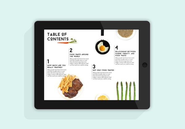 Food Waste by Cecilia Uhr, via Behance