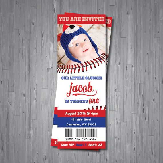 baseball ticket Birthday Invitation ticket by AbbyReeseDesign, $15.00 ....this is great I can use these for save the date :)