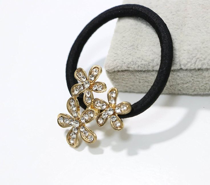Nero Metal Floral Rhinestones Detain Circle Diy Hair Accessory Hair Band ** Visit the image link more details.