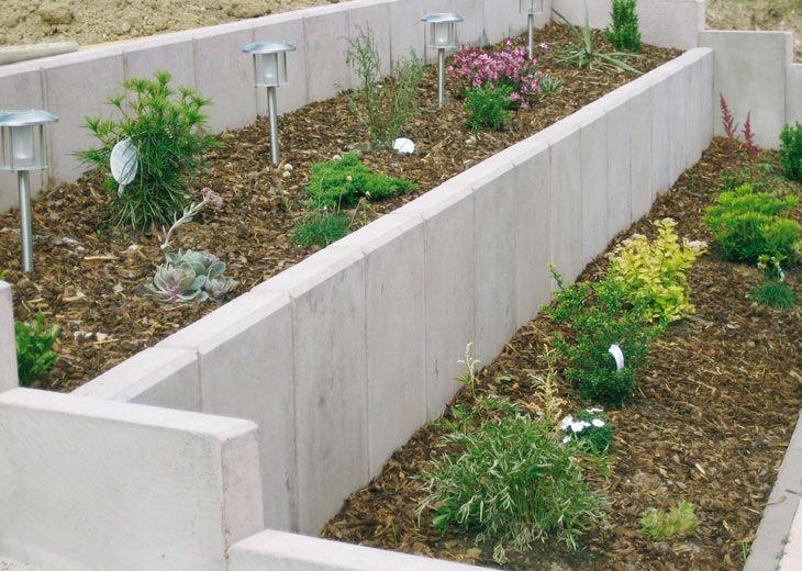 Mur de soutenement en L  Heinrich  Bock  Amnagement Terrain Pente
