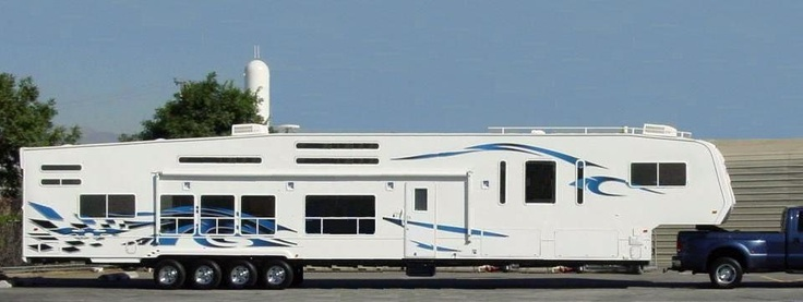 Turning the corner on a long fifth wheel