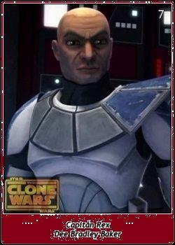 Capitán Rex / Captain Rex / Dee Bradley Baker / Star Wars SW Cromos / The Clone Wars