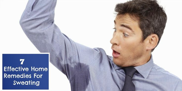 Effective home remedies for sweating excessive sweating