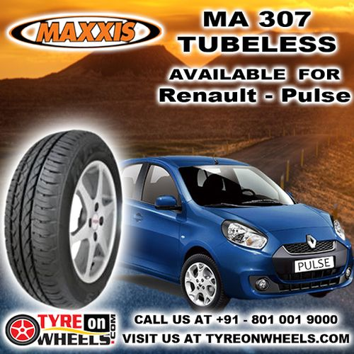 Buy Renault Pulse Tyres Online of Maxxis MA 307 Tubeless Tyres and get fitted with Mobile Tyre Fitting Vans at your doorstep at Guaranteed Low Prices buy now http://www.tyreonwheels.com/tyres/Maxxis/MA-307/763