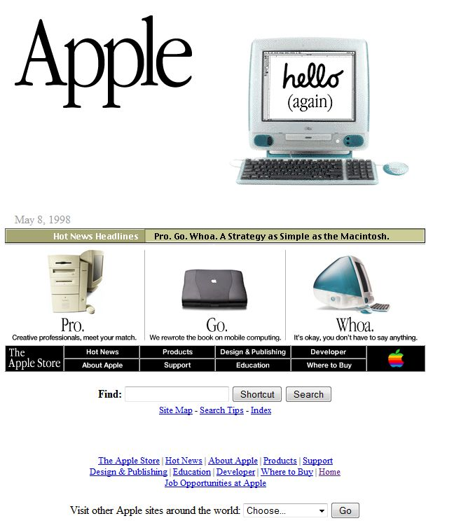Apple.com in the 90s