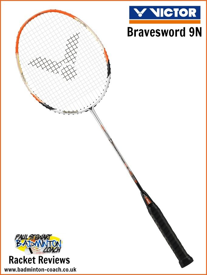 Victor Bravesword 9N Badminton Racket - I'm a great fan of the Bravesword range and consider you should try one whilst you have the chance. This racket suits so many playing styles and is without doubt a really good all-rounder. Read my full review: http://badminton-coach.co.uk/6729/victor-bravesword-9n-badminton-racquet-review/