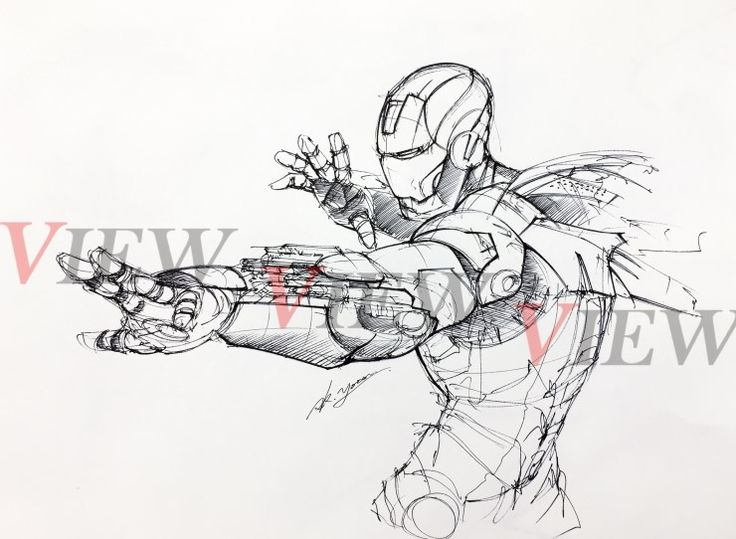 Ironman rough sketch ( plus pen to use )