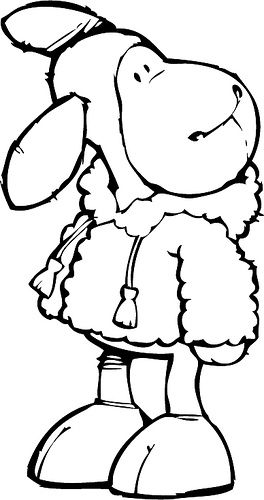 sleeping sheep coloring pages - photo#47