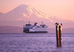 The Bainbridge Island Ferry.... this is how we traveled to and from civilization on a daily basis when we lived out there. It was heaven.