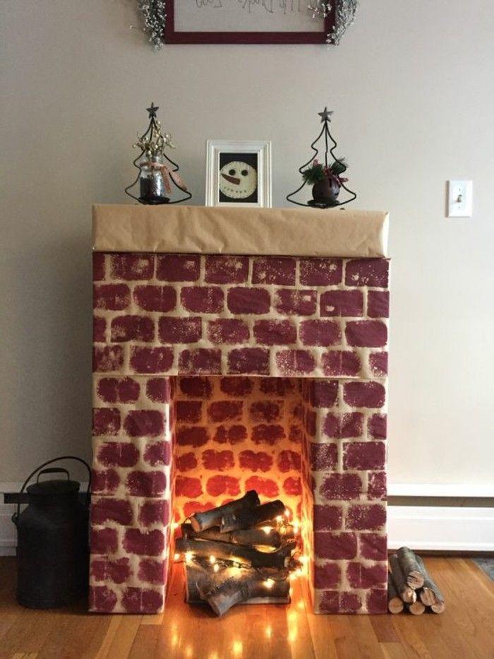 fausse cheminée, feu allumé, photo de bonhomme de neige