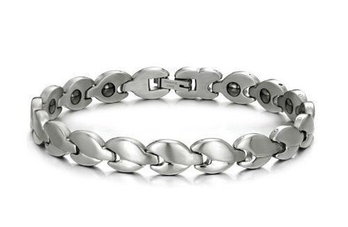 Brand New Lady's Titanium Magnetic Bracelet Anti-fatigue Anti-radiation in a Nice Gift Box SunnyHouse. $29.99. Titanium Steel, Laser Cutting and Polishing Technique. Comes with a FREE Gift Box, 30-Day Money Back Guarantee. Hematite, Anti-fatigue and Anti-radiation