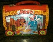 Bozo The Clown Metal Lunch Box from 1963