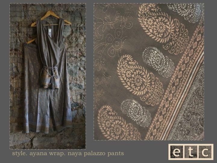 Natural Dyes | Ayana wrap top | Naya palazzo pants