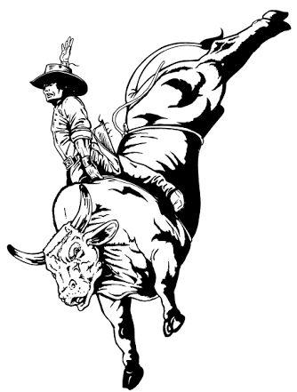 bull riding drawings - Google Search | bull riding | Pinterest ...