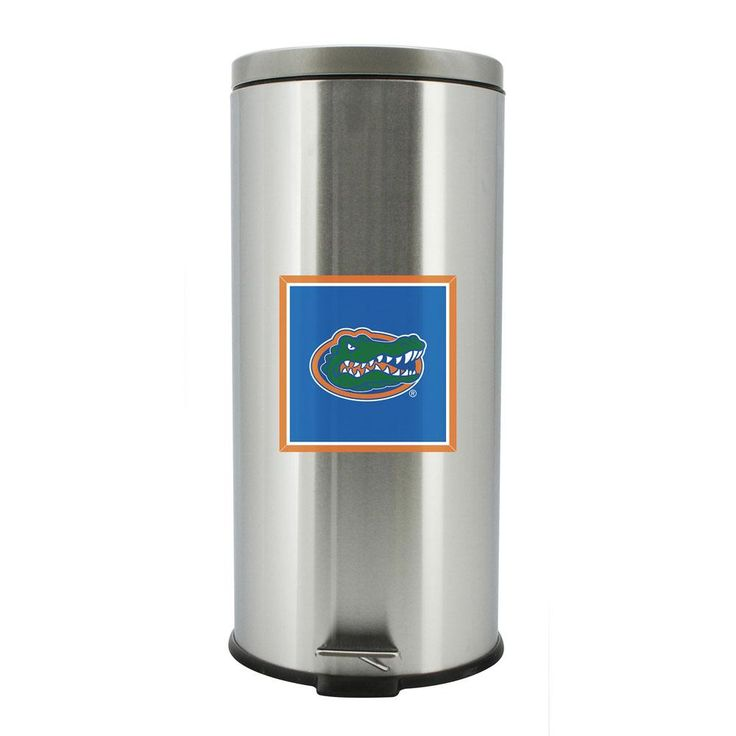 Florida Gators Stainless Steel Soft Close Trash Bin, the only way to class up a trashy job.