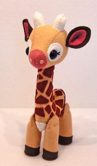Como hacer jirafas de fieltro con moldes