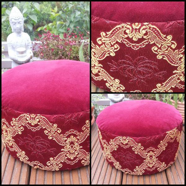 SAMT/BROKAT YOGAKISSEN.MEDITATIONSKISSEN. von Donnalupinas Textilwerkstatt auf DaWanda.com