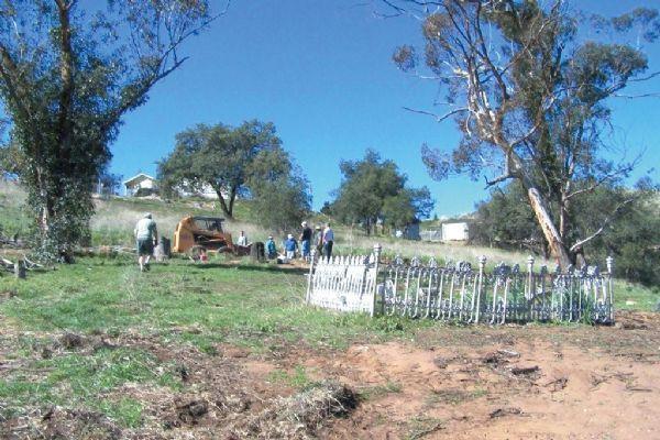 Efforts are under way to refurbish the ballena pioneer cemetery.