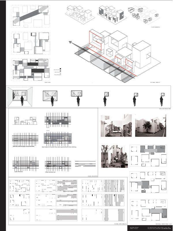 Moriyama House Analysis by Garrett Ryan Miller, via Behance