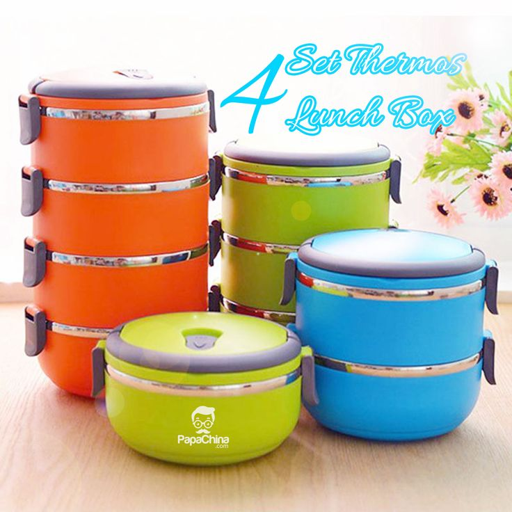 4 Set Thermos Lunch Box, a dynamic product that delivers some of the great features like tableware thermal food container, food container bento microwave lunch box, durable to use and easy to clean, large capacity put more food or snack with spoon, can be heated in a microwave no hole in the box