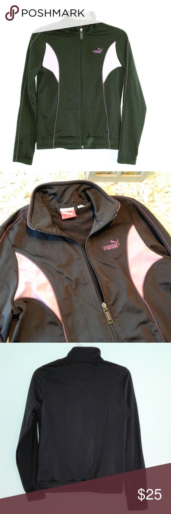 Puma Lifestyle Track Jacket Puma Lifestyle Track Jacket. Light purple and black zip up. Great for leisure or performance activity. EUC. Perfect for the upcoming season!  Size is Small. Puma Jackets & Coats